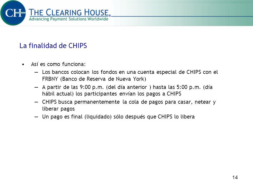 La finalidad de CHIPS Así es como funciona: