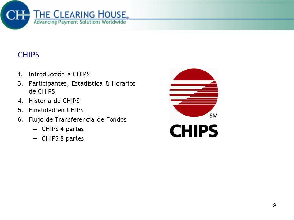 CHIPS 3. Participantes, Estadística & Horarios de CHIPS