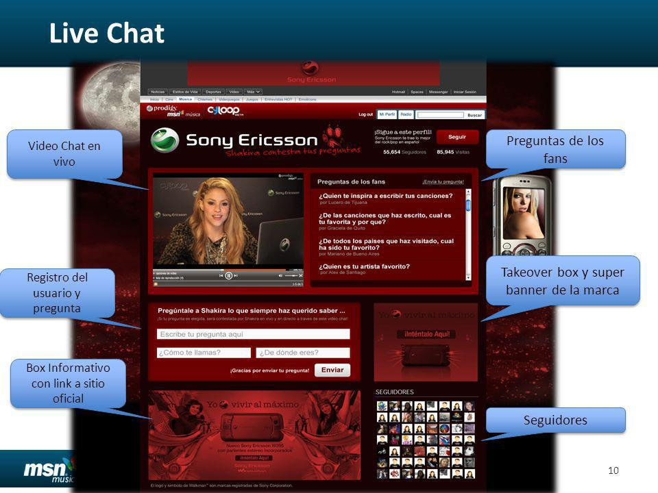 Live Chat Preguntas de los fans