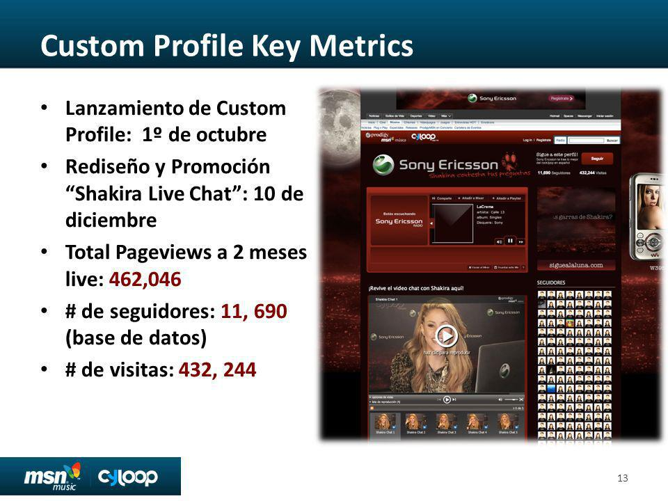 Custom Profile Key Metrics