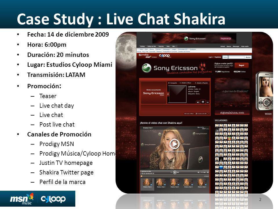 Case Study : Live Chat Shakira