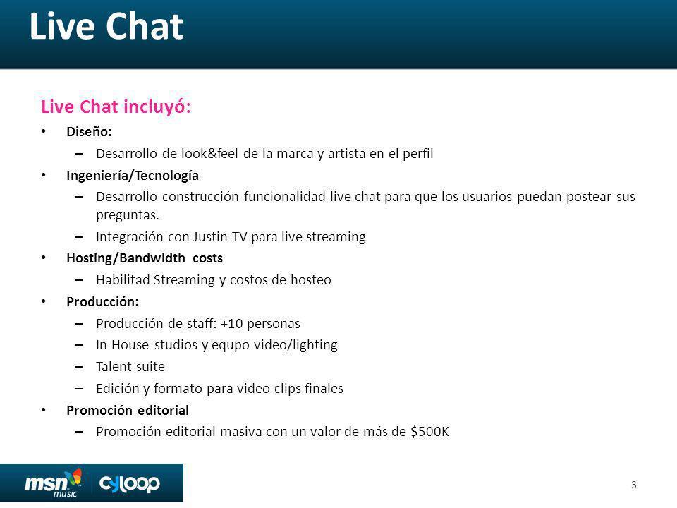 Live Chat Live Chat incluyó: Diseño: