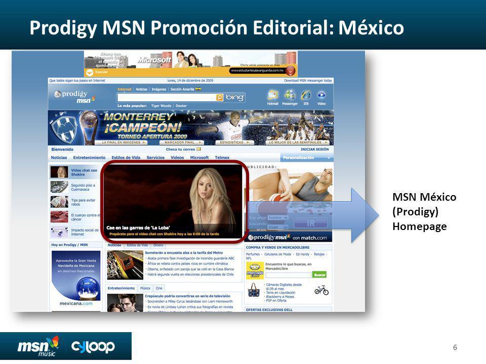 Prodigy MSN Promoción Editorial: México