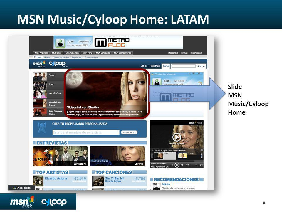 MSN Music/Cyloop Home: LATAM
