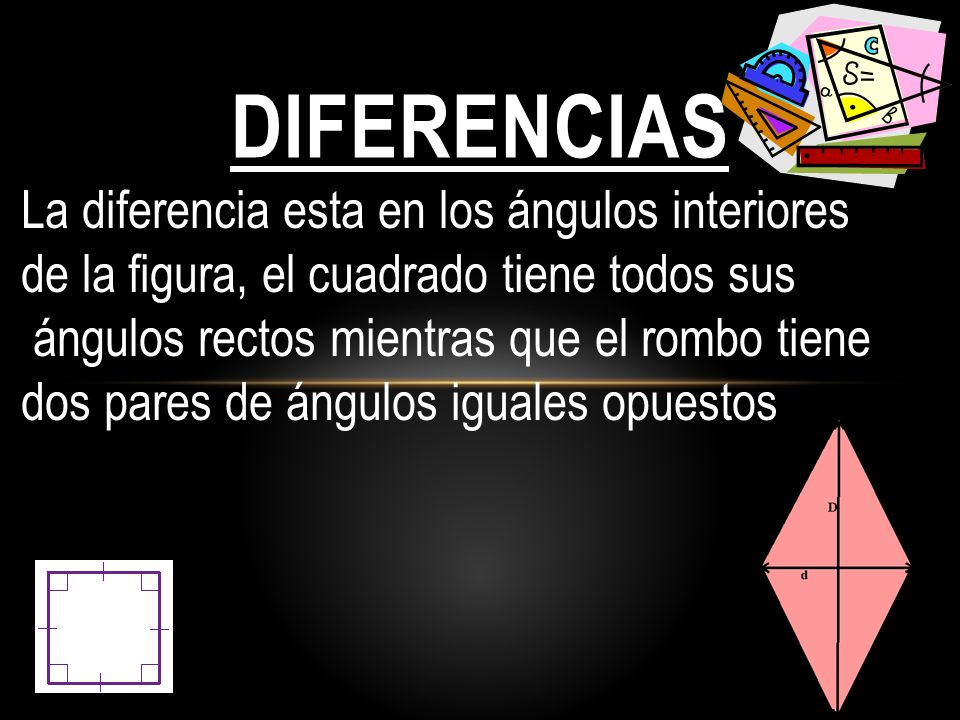 diferencias La diferencia esta en los ángulos interiores