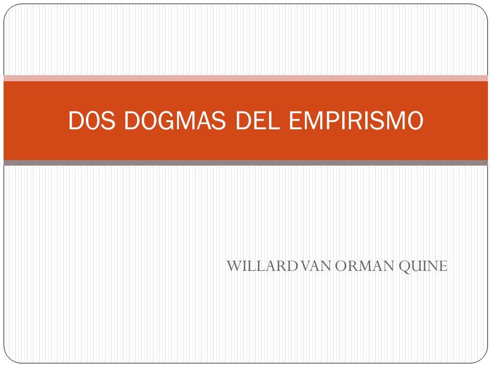 D0S DOGMAS DEL EMPIRISMO