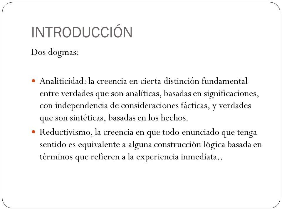 INTRODUCCIÓN Dos dogmas: