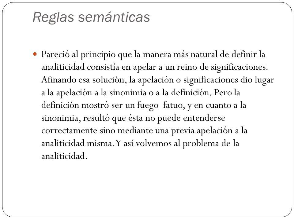 Reglas semánticas