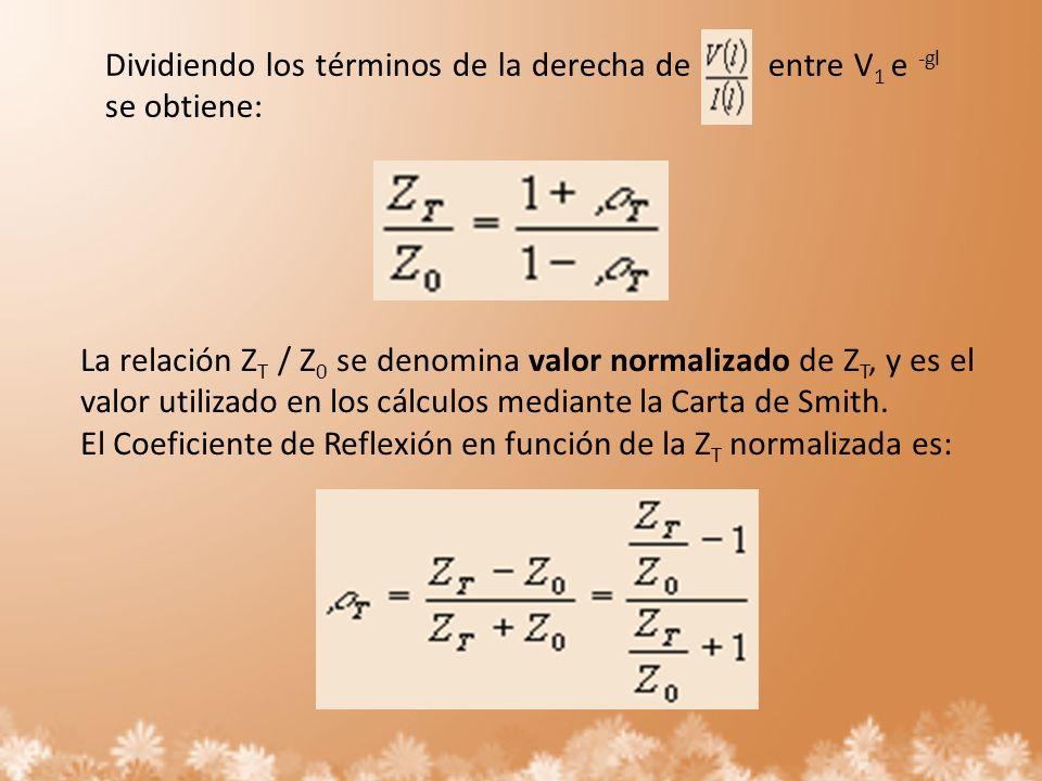 Dividiendo los términos de la derecha de entre V1 e -gl se obtiene: