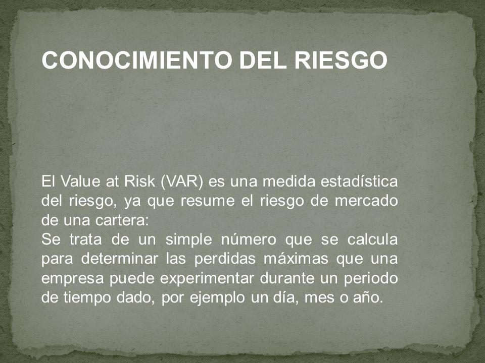 CONOCIMIENTO DEL RIESGO