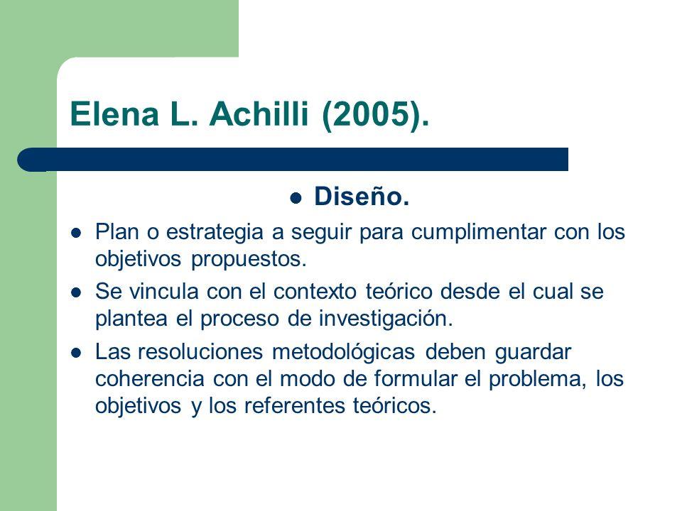 Elena L. Achilli (2005). Diseño.