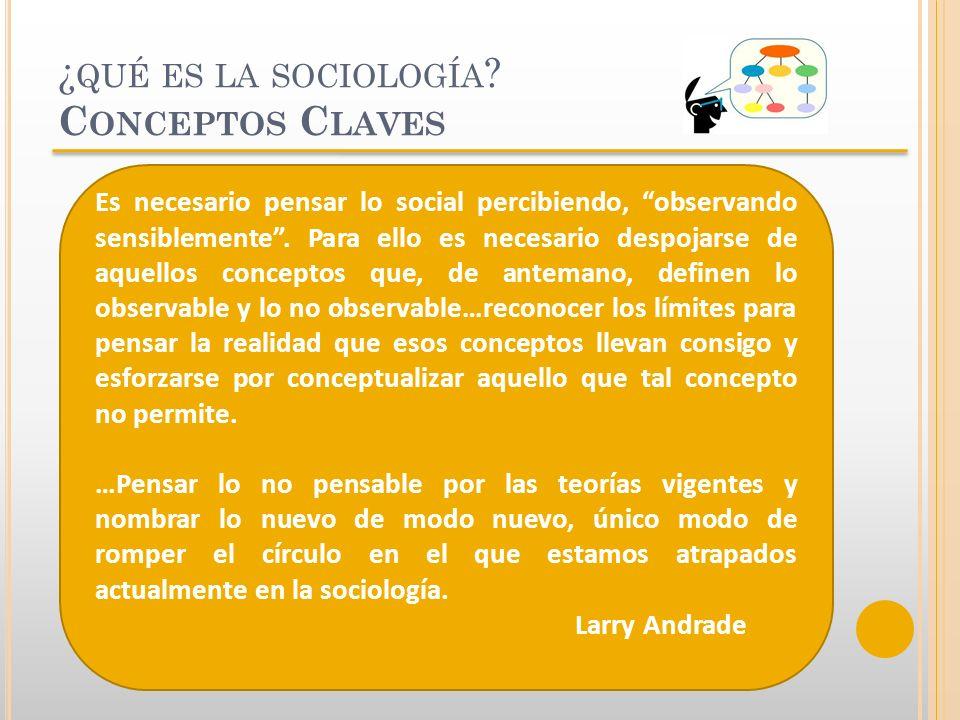 ¿qué es la sociología Conceptos Claves