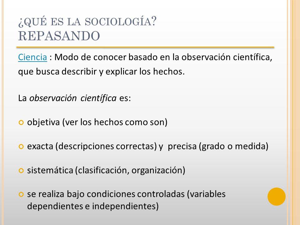 ¿qué es la sociología REPASANDO
