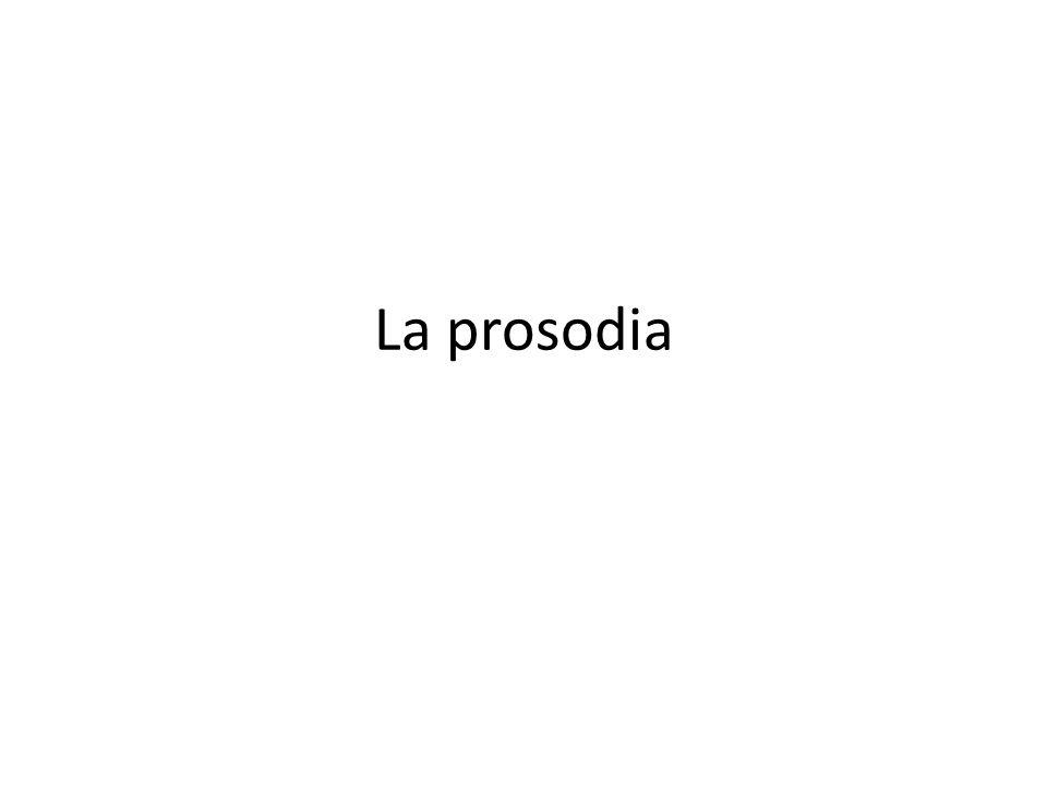 La prosodia