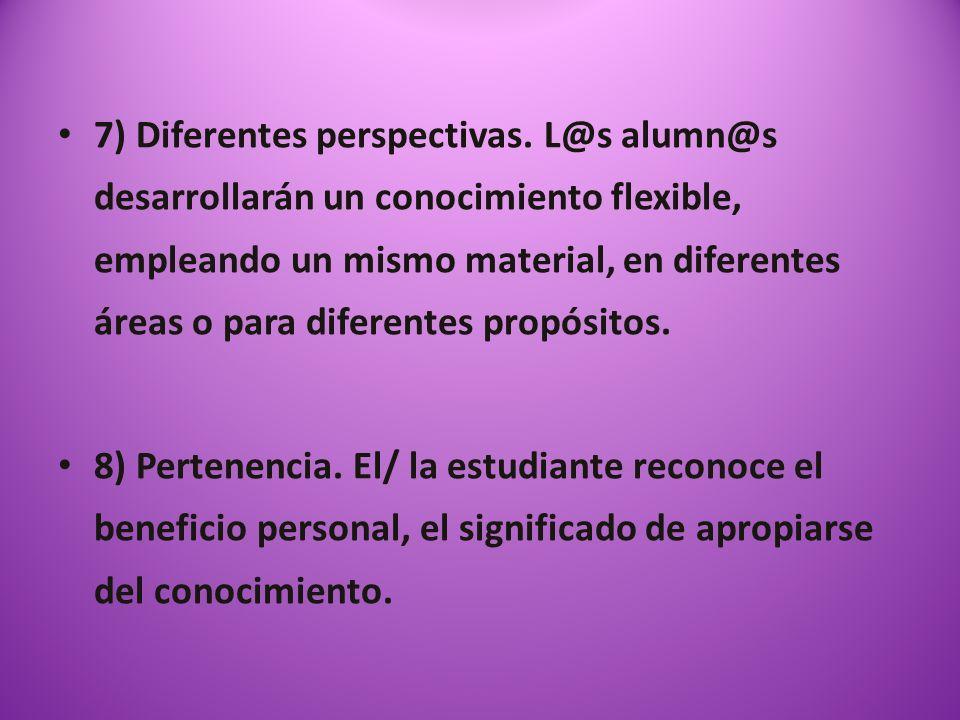 7) Diferentes perspectivas