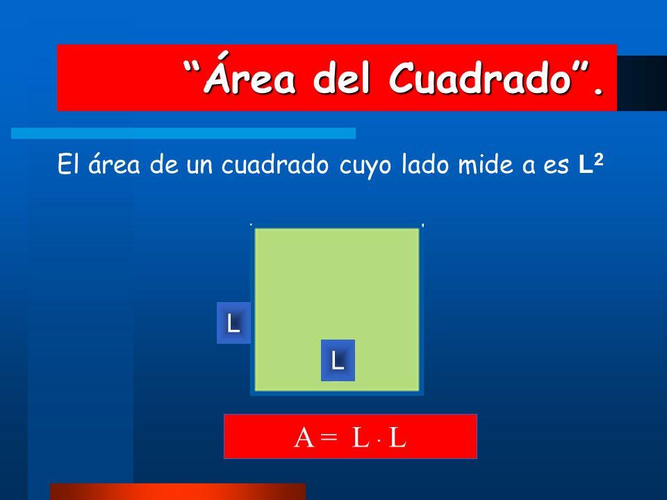 Área del Cuadrado . A = L · L