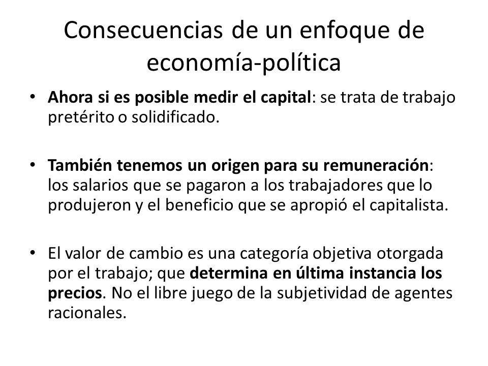 Consecuencias de un enfoque de economía-política