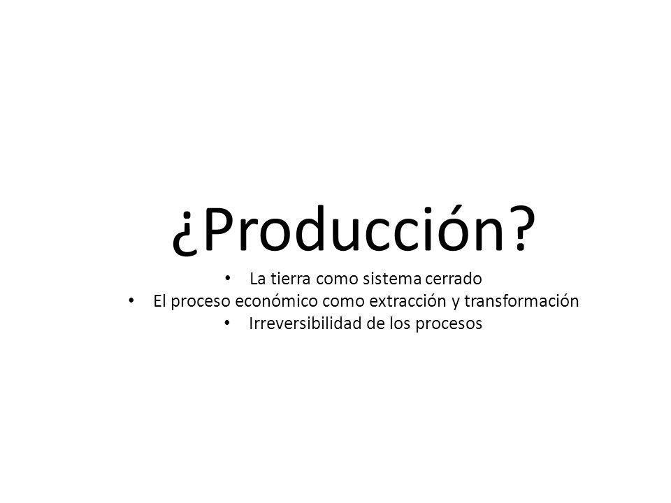 ¿Producción La tierra como sistema cerrado