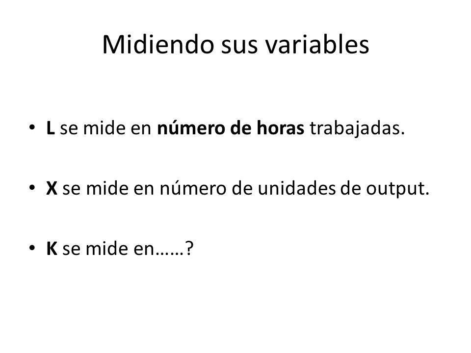 Midiendo sus variables