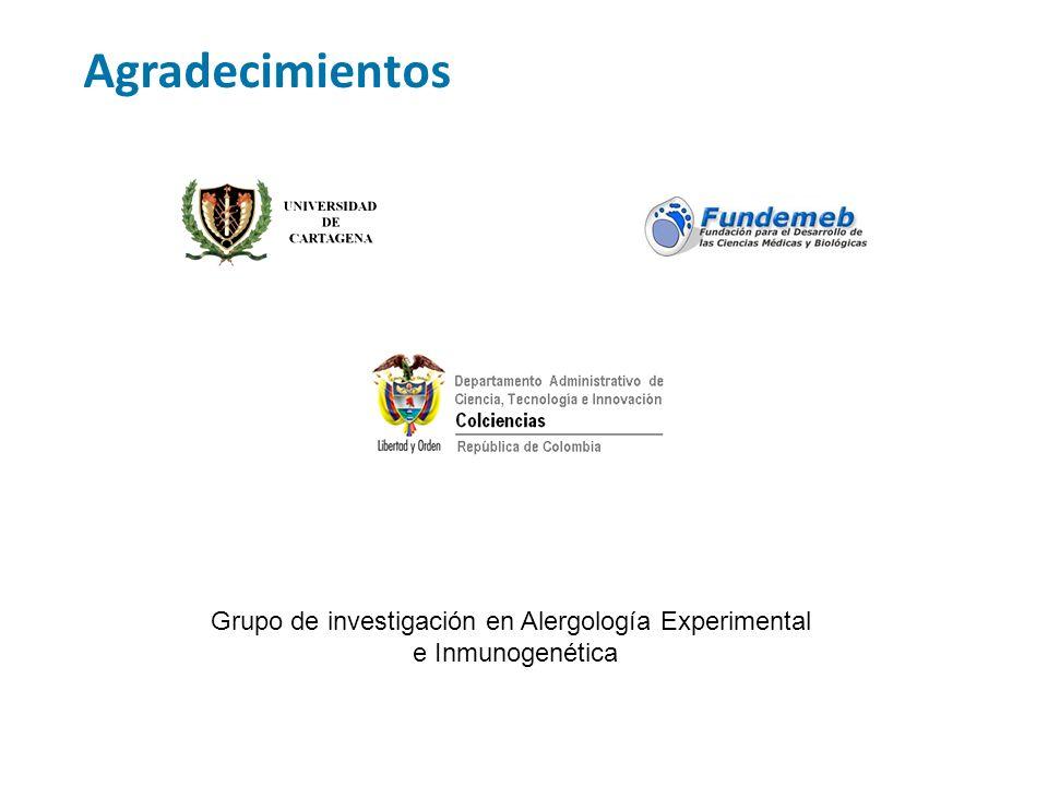 Agradecimientos Grupo de investigación en Alergología Experimental