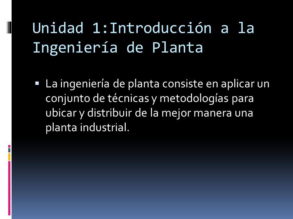 Unidad 1:Introducción a la Ingeniería de Planta