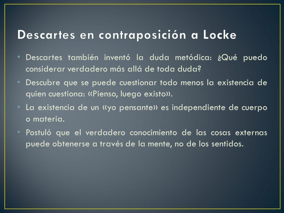 Descartes en contraposición a Locke
