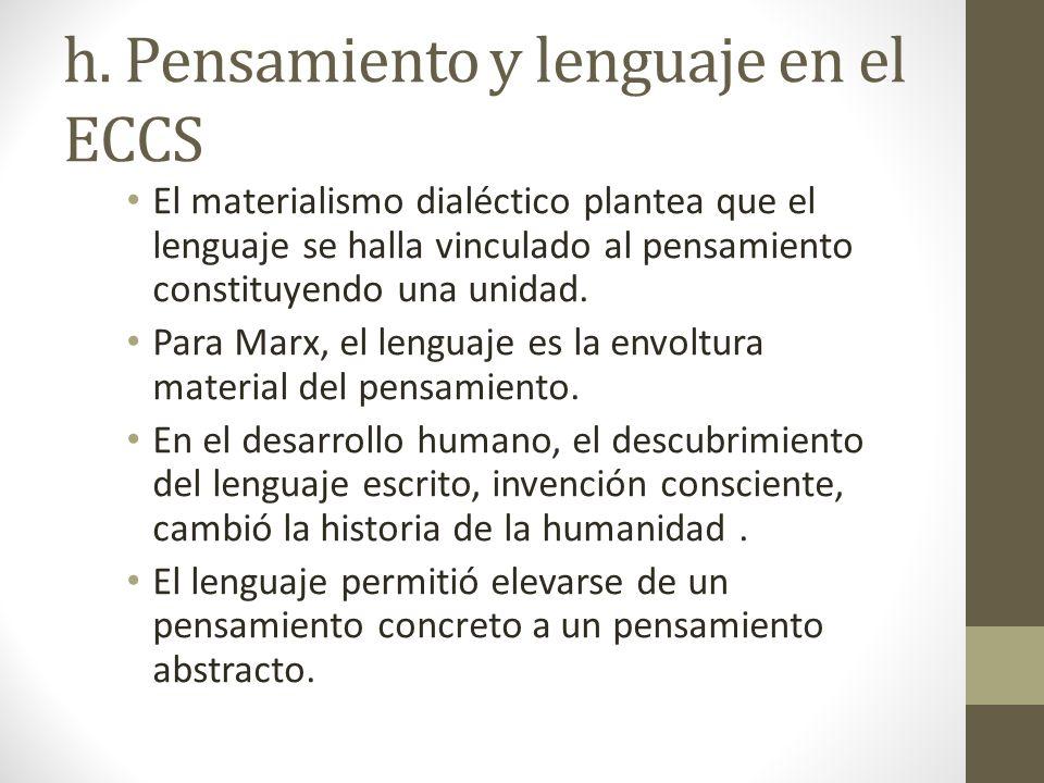 h. Pensamiento y lenguaje en el ECCS