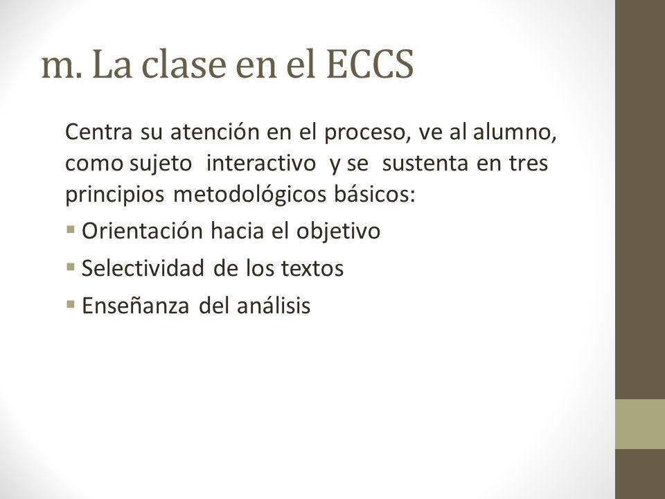 m. La clase en el ECCS