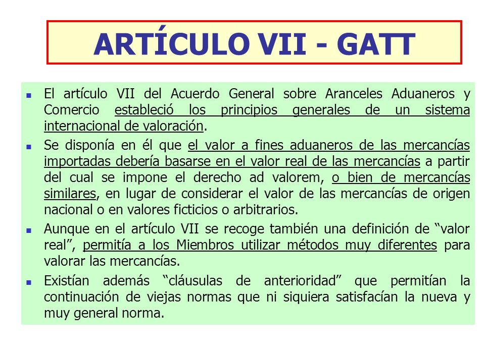 ARTÍCULO VII - GATT