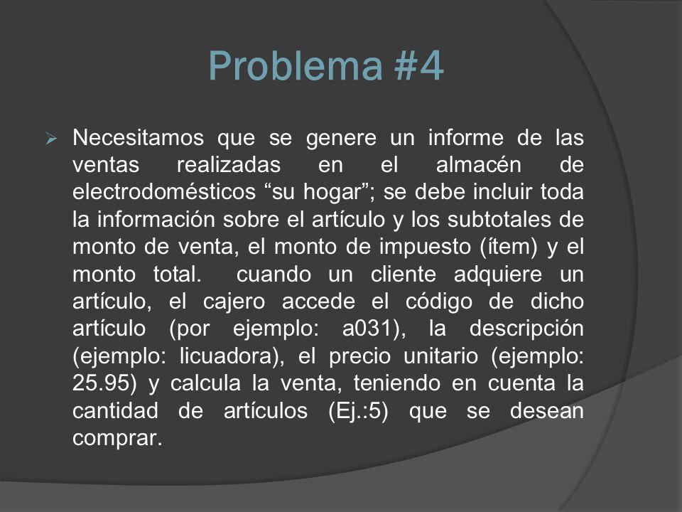 Problema #4