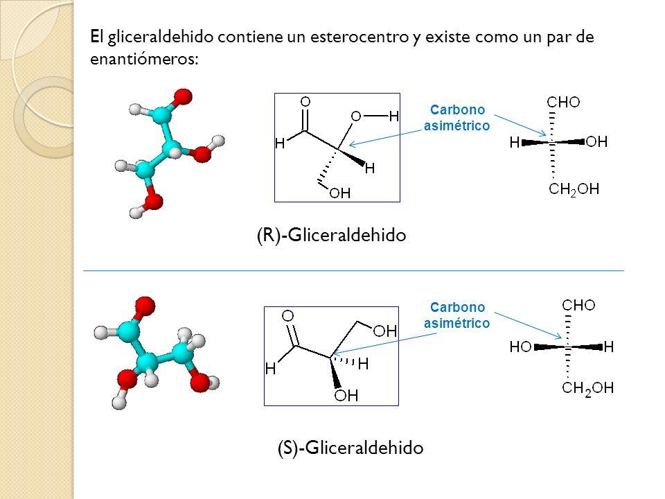 (R)-Gliceraldehido (S)-Gliceraldehido