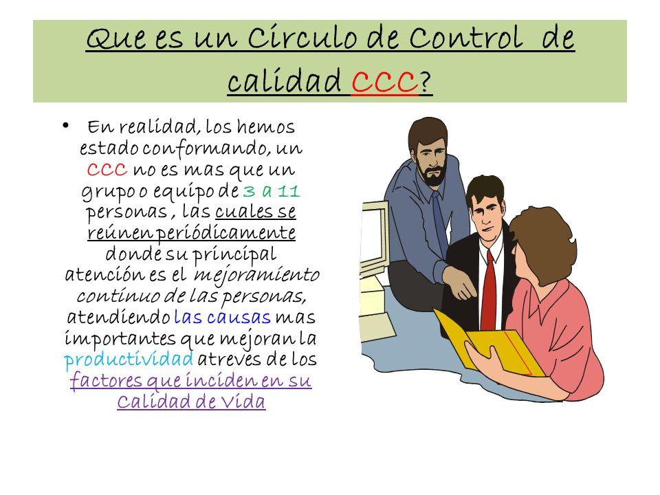 Que es un Circulo de Control de calidad CCC