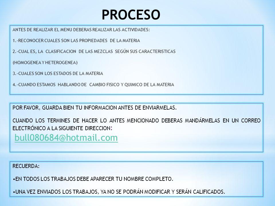 PROCESO bull080684@hotmail.com