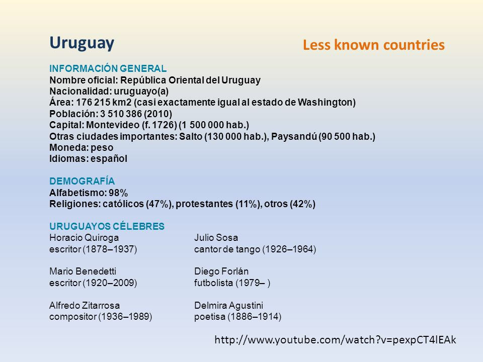 Uruguay Less known countries
