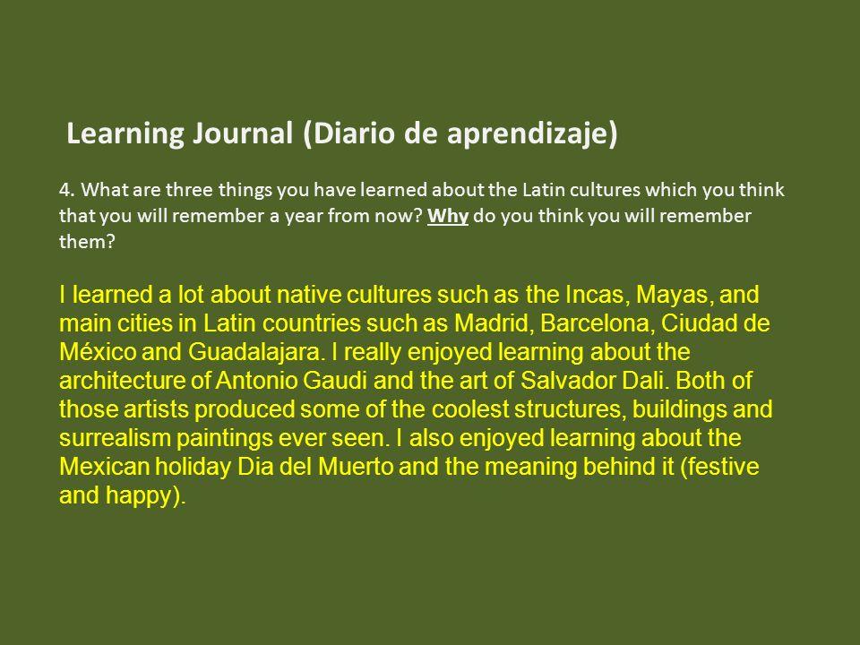 Learning Journal (Diario de aprendizaje)
