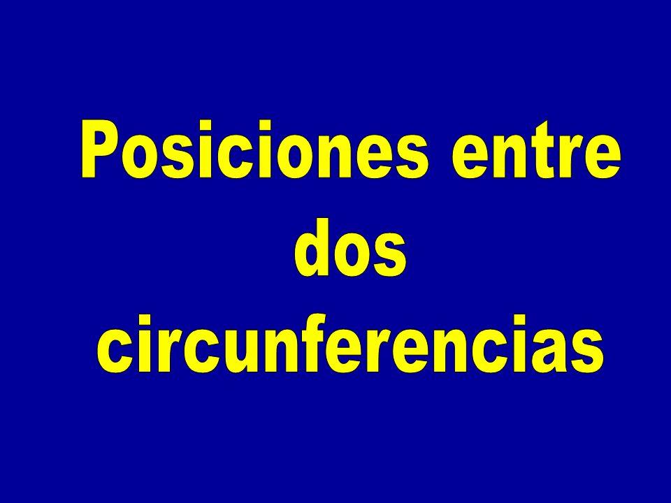 Posiciones entre dos circunferencias