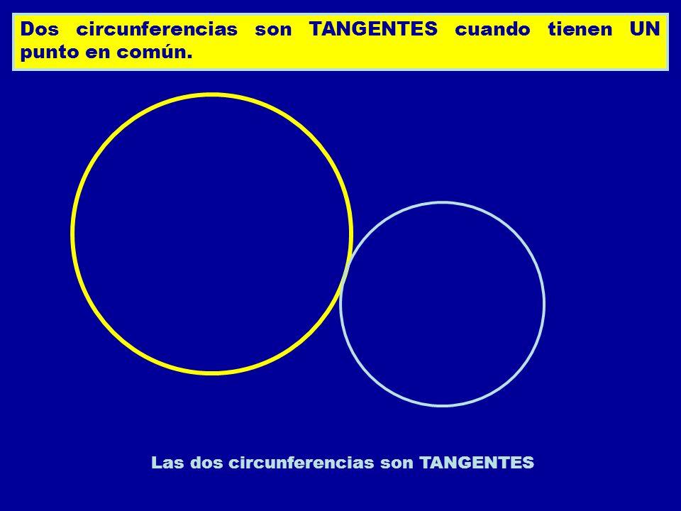 Las dos circunferencias son TANGENTES