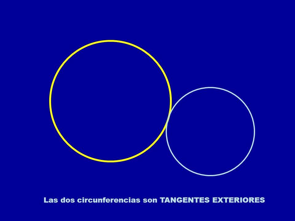 Las dos circunferencias son TANGENTES EXTERIORES