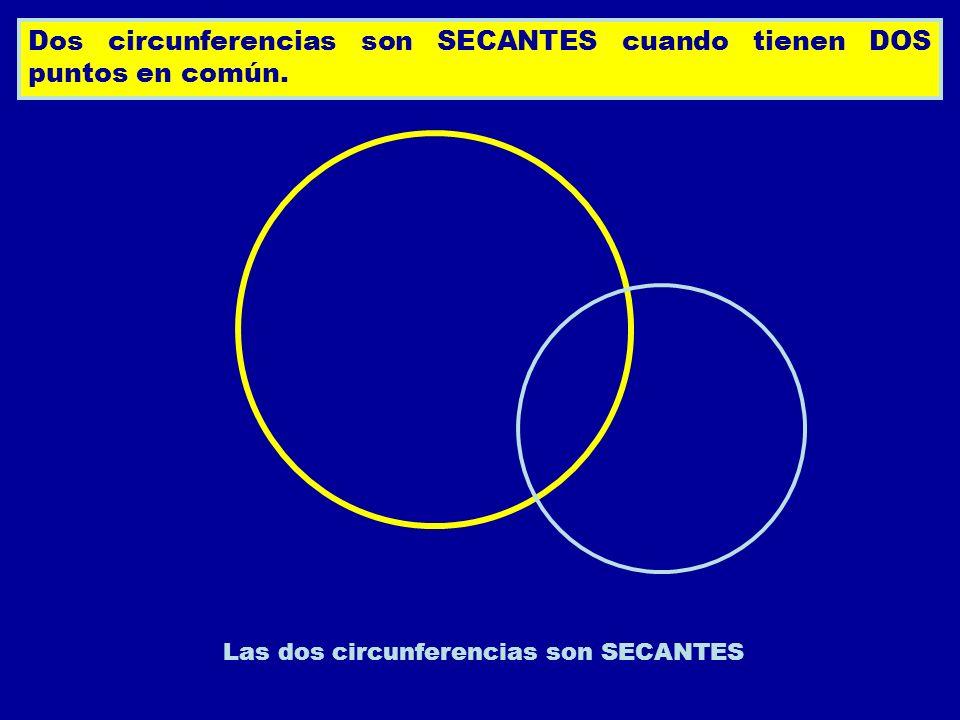 Las dos circunferencias son SECANTES