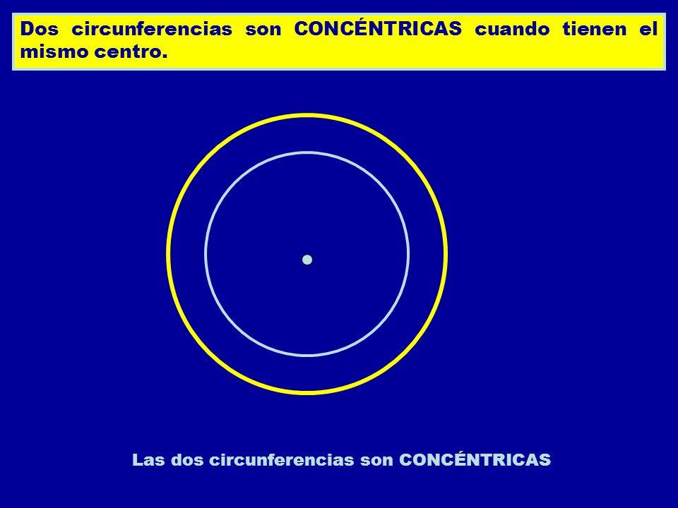 Las dos circunferencias son CONCÉNTRICAS