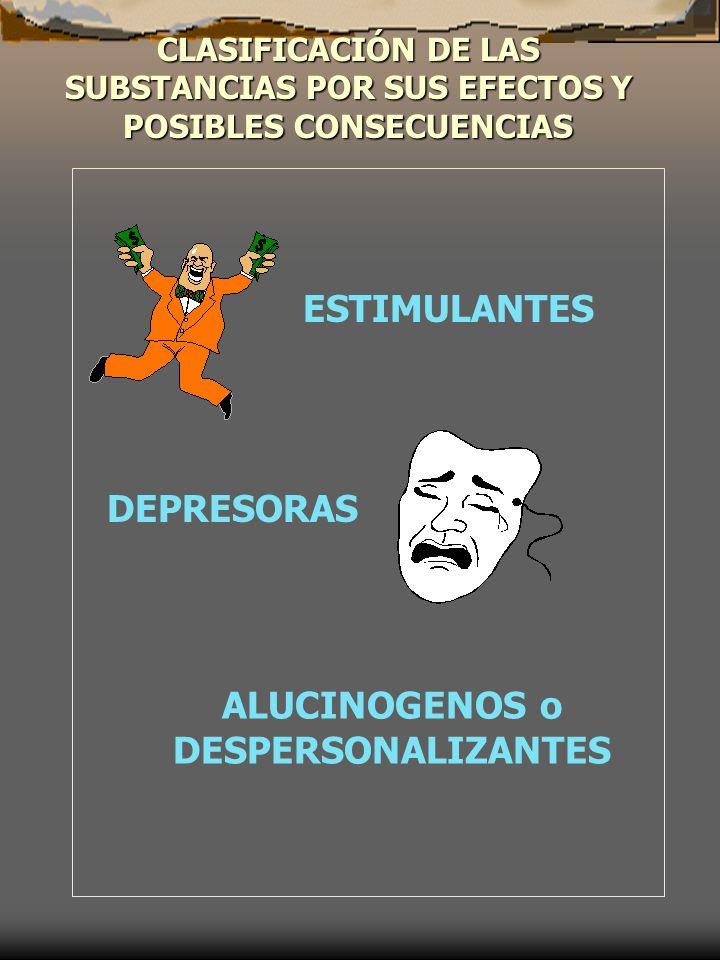 ALUCINOGENOS o DESPERSONALIZANTES