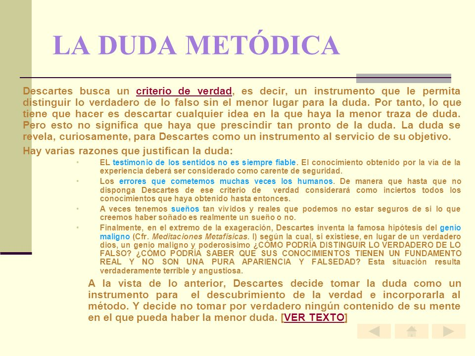 LA DUDA METÓDICA