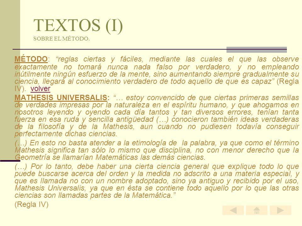 TEXTOS (I) SOBRE EL MÉTODO.