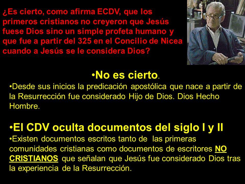 El CDV oculta documentos del siglo I y II