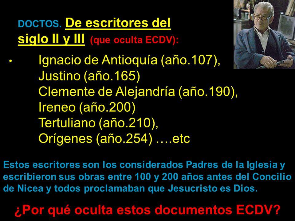 ¿Por qué oculta estos documentos ECDV
