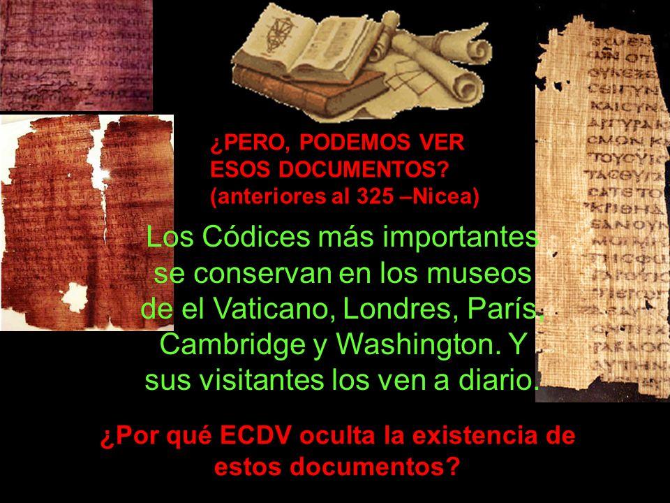 ¿Por qué ECDV oculta la existencia de estos documentos