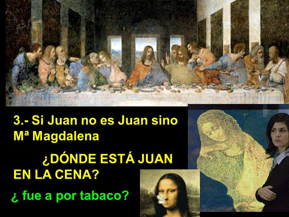 3.- Si Juan no es Juan sino Mª Magdalena