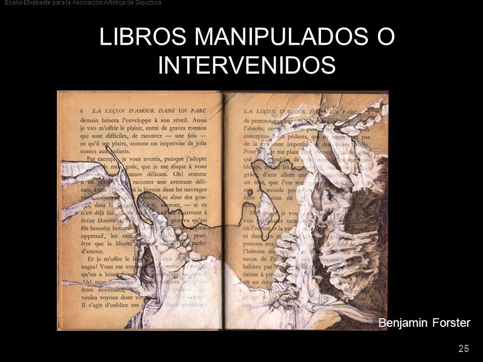 LIBROS MANIPULADOS O INTERVENIDOS