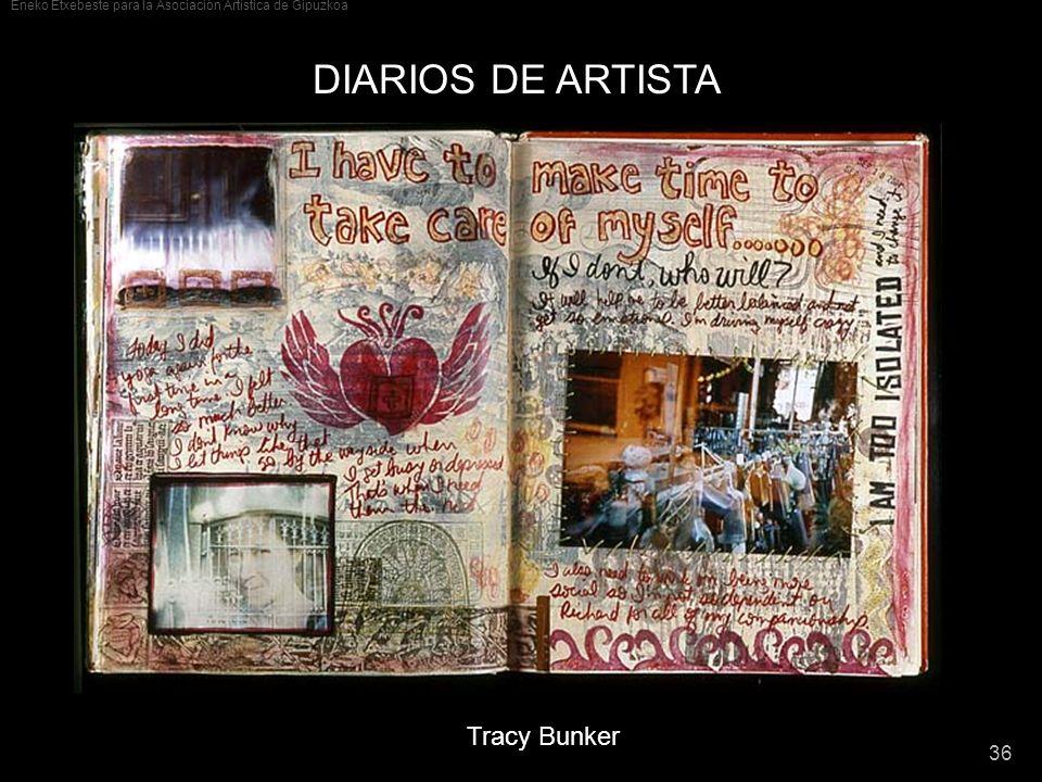 DIARIOS DE ARTISTA Tracy Bunker