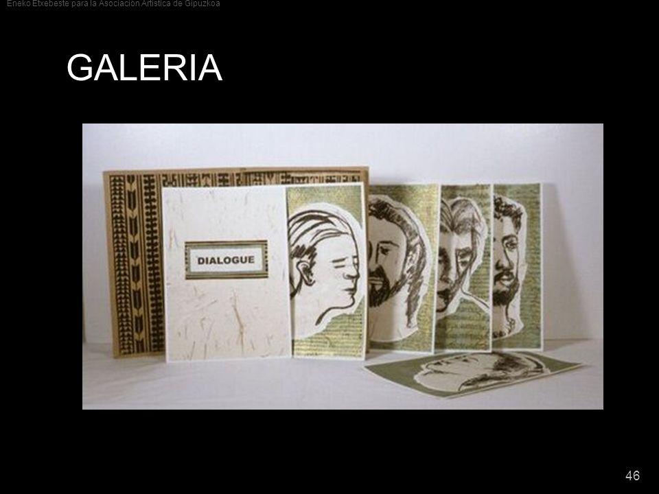 Eneko Etxebeste para la Asociación Artística de Gipuzkoa